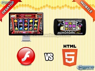 Flash vs HTML5 online casino games