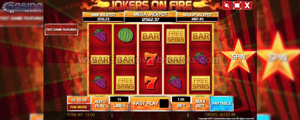 jokers on fire slot game