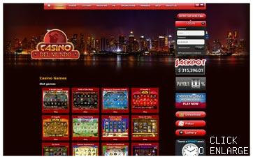 Template Casino Del Mundo RED
