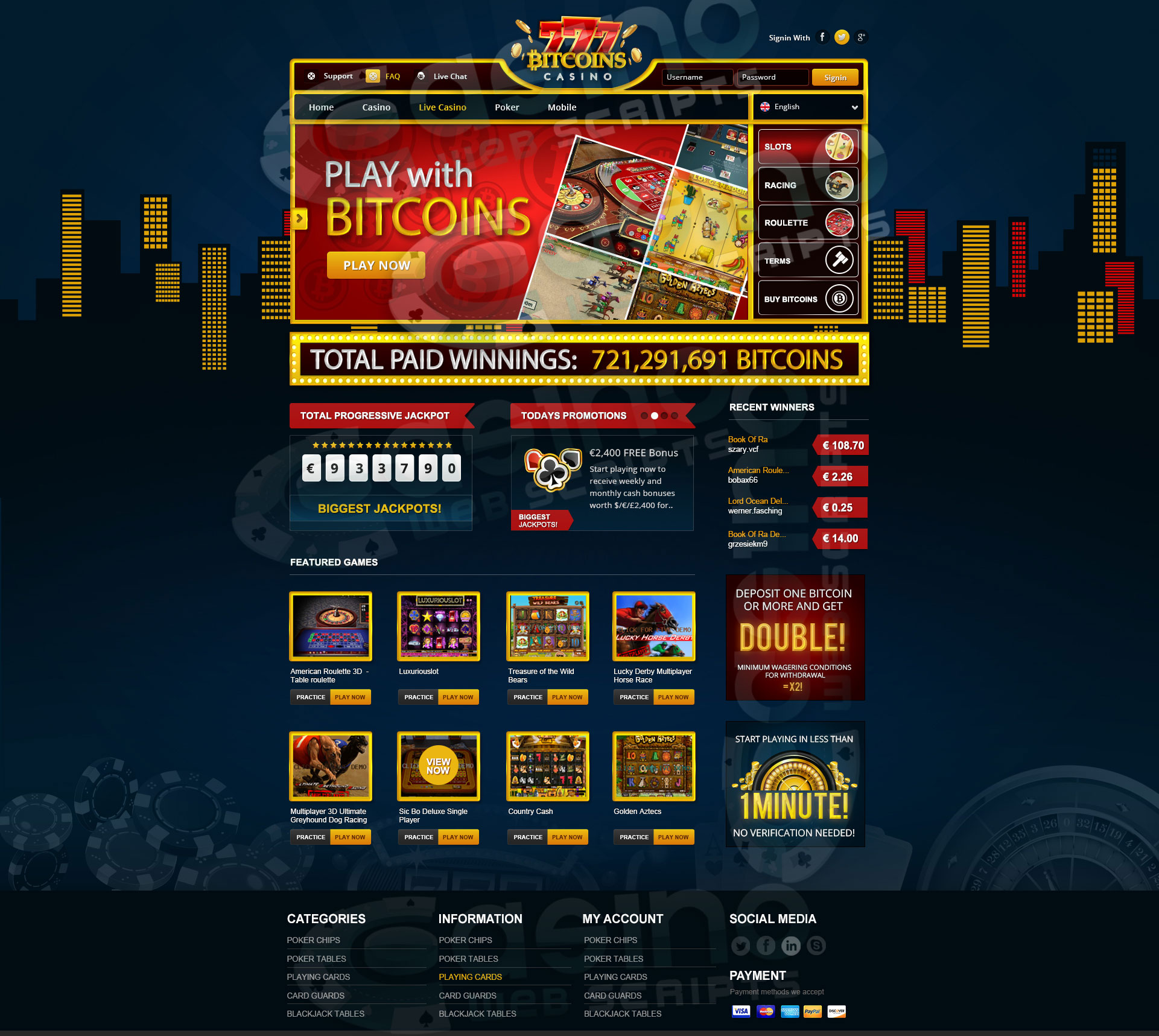 casino websites script