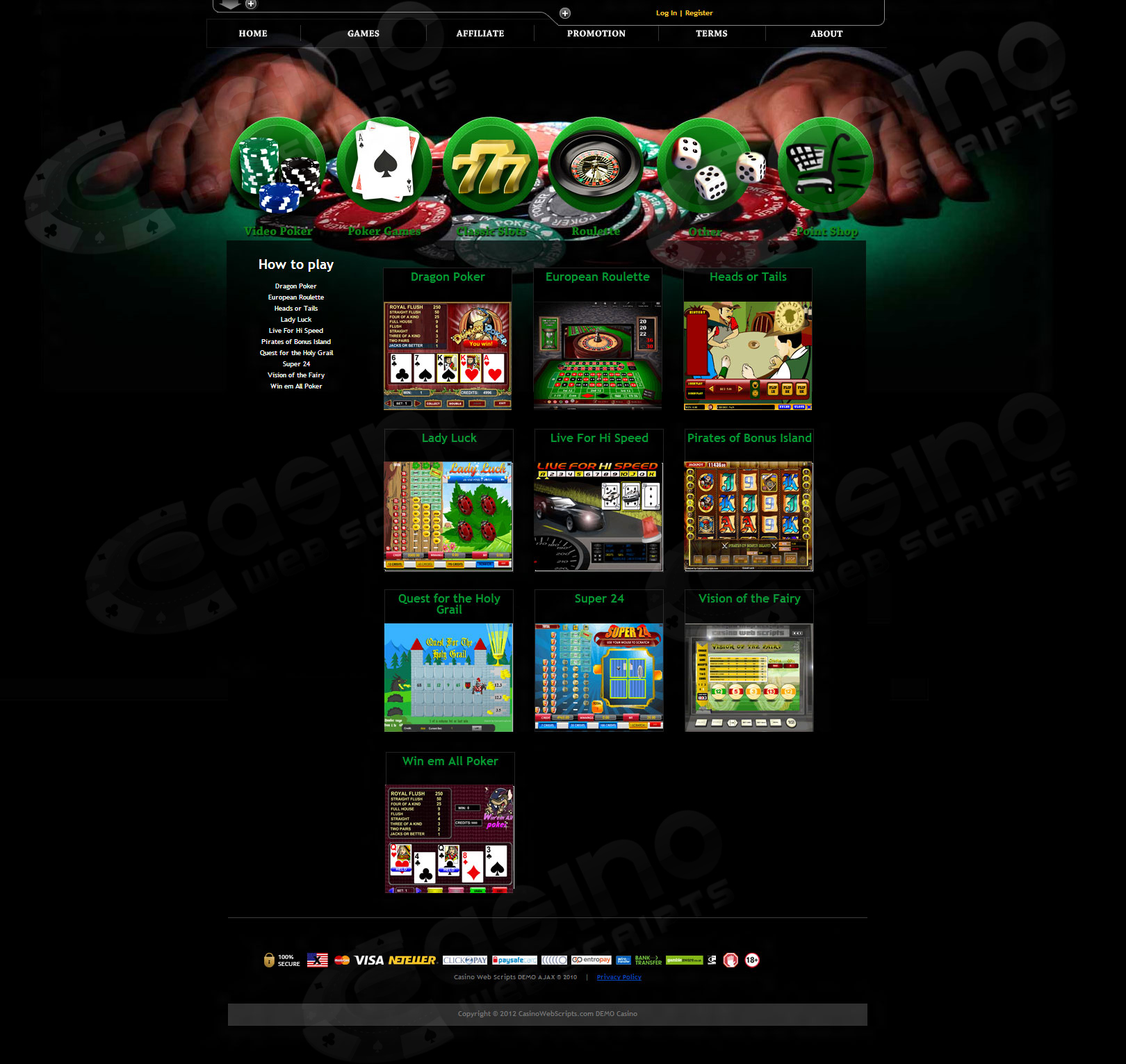 Pyramid Riches Slot - Play Casino Web Scripts Slots for Free