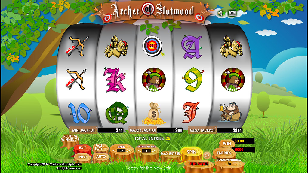 Sweepstakes Slot game Archer of Slotwood Preview Pic