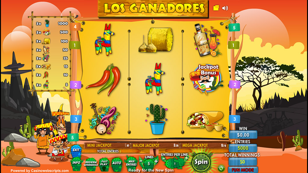 Sweepstakes Slot game Los Ganadores Preview Pic