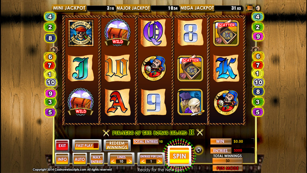 Sweepstakes Slot game Pirates of Bonus Island II Preview Pic