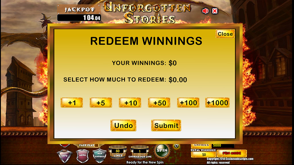 Sweepstakes Slot Unforgotten Stories Redeem entries page