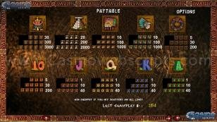 Golden Aztecs Preview Pic Paytable Page 3