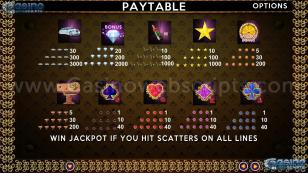 Luxuriouslot Preview Pic  Symbols Paytable 2