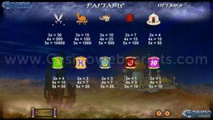 Persian Treasures Preview Pic Symbols Paytable 2