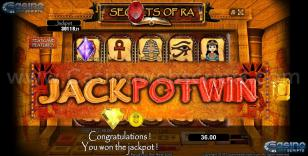 Secrets of Ra Preview Pic  Jackpot Screen 28