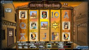 Old Wild West Reels Preview Pic Main Screen 1