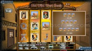 Old Wild West Reels Preview Pic Symbols Paytable 2
