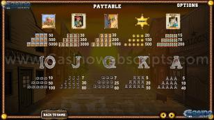 Old Wild West Reels Preview Pic Paytable Page 3