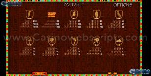 The Golden Serpent Treasure Preview Pic  Symbols Paytable 2