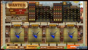 Wanted MultiSpin Slot Preview Pic Main Screen 1