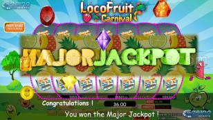 Loco Fruit Carnival Preview Pic Jackpot Screen 23