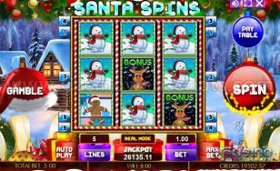 Santa Spins HTML5 Mobile and PC