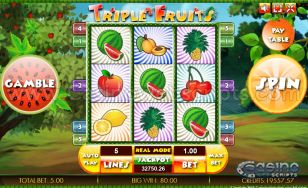 Triple Fruits HTML5 Slot