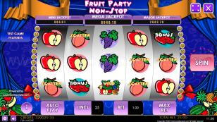 Fruit Party Non-Stop HTML5 Mobile and PC Preview Pic Main Screen 1