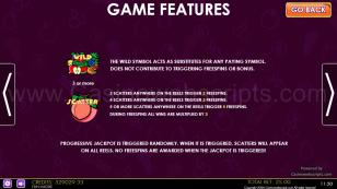 Fruit Party Non-Stop HTML5 Mobile and PC Preview Pic Paytable Page 3