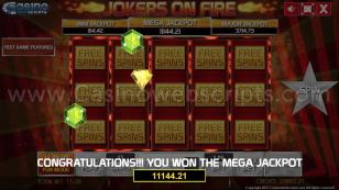 Jokers on Fire HTML5 Mobile and PC Preview Pic Jackpot Screen 17