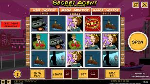 Secret Agent HTML5 Slot Preview Pic  Main Screen 1