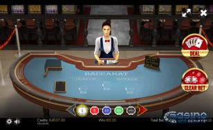 Baccarat 3D Dealer HTML5 Mobile and PC