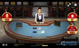 BlackJack 21 3D Dealer HTML5 Mobile