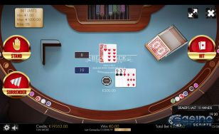 Blackjack 21 Surrender HTML5 Mobile and PC