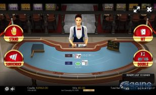 Blackjack 21 Surrender 3D Dealer HTML5 Mobile and PC