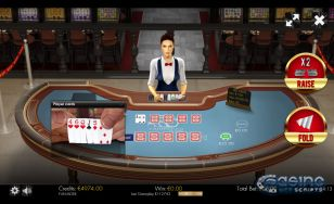 Caribbean Poker 3D Dealer HTML5 Mobile