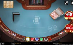 Over or Under 26 4Card Joker HTML5 Mobile and PC