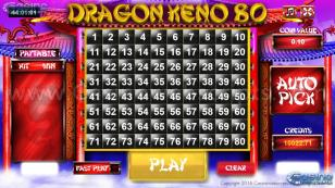 Dragon Keno 80 HTML5 Mobile and PC Preview Pic Main Screen 1
