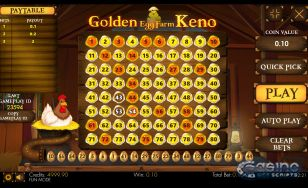 Golden Egg Keno 80 Mobile and PC