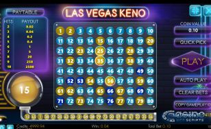 Las Vegas Keno 80 Mobile and PC