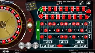 European Roulette 2D Advanced - HTML5 Mobile and PC Preview Pic Main Screen 1