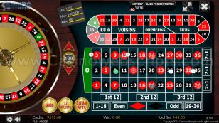 European Roulette 2D Advanced - HTML5 Mobile and PC Preview Pic 2