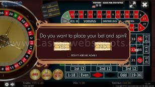 European Roulette 2D Advanced - HTML5 Mobile and PC Preview Pic 3