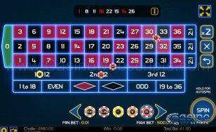 European Roulette Neon Lights - Mobile and PC
