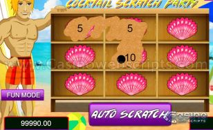 Beach Cocktail Scratch HTML5 Mobile and PC