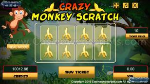 Crazy Monkey Scratch HTML5 Mobile and PC Preview Pic Main Screen 1