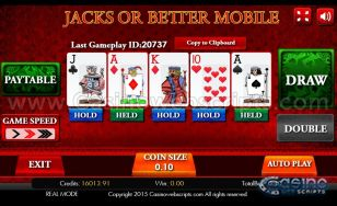 Jacks Or Better HTML5 Mobile and PC