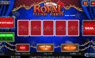 Royal Flush Party Video Poker HTML5 Mobile and PC
