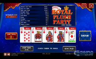 Royal Flush Party HTML5 Mobile
