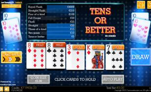 10s or better Video Poker HTML5 Mobile and PC
